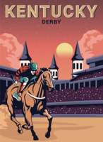 Carte postale de derby du Kentucky