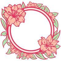 azalea blommor ram