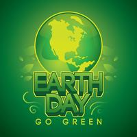 Eart Day Go Green Vector