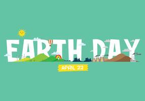 Ilustração do cartaz do Dia da Terra