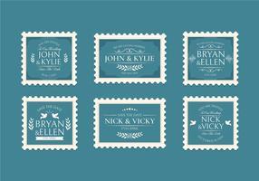 Vintage Wedding Stamp Collection