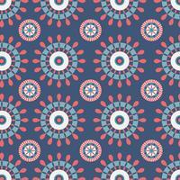 Motif Kaléidoscope bleu et rouge