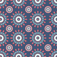Blue And Red Kaleidoscope Pattern