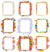 Vectores coloridos marcos