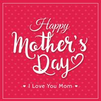 Happy Mother's Day Typography