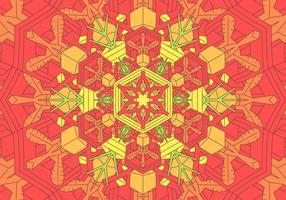 Kaleidoscope Pattern Background Illustration