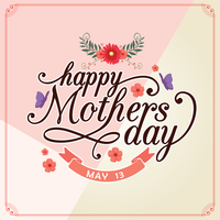 Happy Mothers Day Card vector