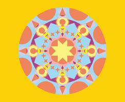 Geometric Kaleidoscope Pattern Vector