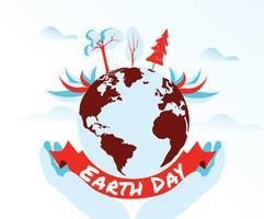 Design de vetor do dia da terra