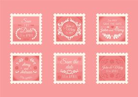 Collection de timbres de mariage Vintage