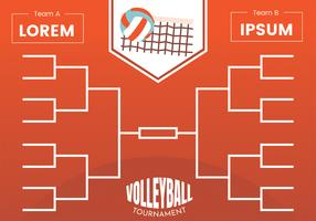Volleyball Tournament Bracket Poster