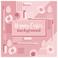 Vector Easter Memphis Background
