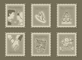 Vintage Wedding Stamp