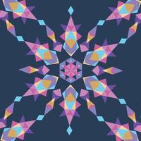 Zartes Kaleidoskop-Muster