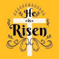 He Is Risen Vector