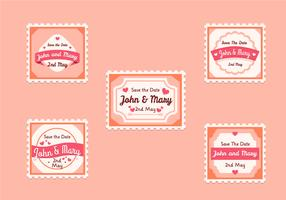 Vintage Wedding Stamp Collection
