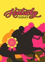 Kentucky Derby Party Invitation Vector