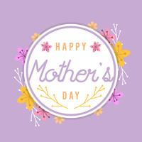 Piatto Happy Mothers Day Card Vector