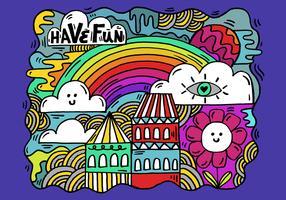 colorful cartoon landscape