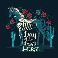 Skeleton of Horse for Day of the Dead Horse  vector