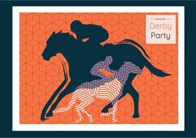 Kentucky Derby Postkarte Vektor Design