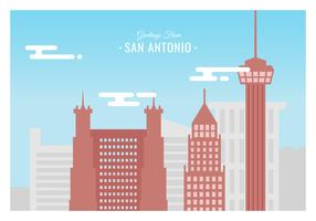 San Antonio carte postale Vector Illustration