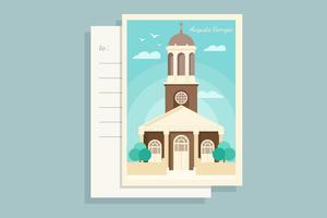 Augusta Georgia cartolina vettoriale
