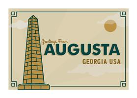 Augusta Georgia Postcard Illustration
