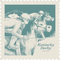 Kentucky Derby Postkarte