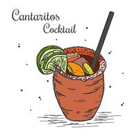 Vecteur de Cocktail Cantaritos