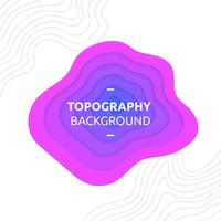 Topography Background Purple Vector