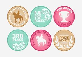Vector Kentucky Derby emblemas