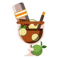 Michelada Icon on White Background