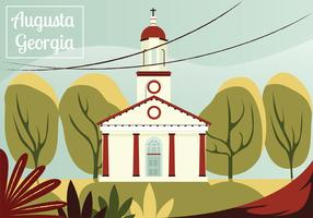 Augusta Georigia Postcard Vector Design
