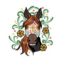 Dia da etiqueta do cavalo inoperante