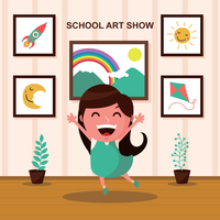 School Art Show Illustration