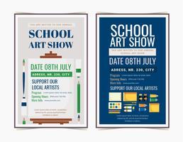 Vektor-Schulkunst-Show-Poster