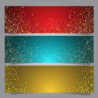 Christmas star banners vector