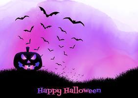 Priorità bassa di Halloween sulla struttura dell'acquerello