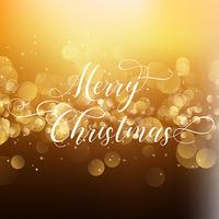 Christmas background with decorative type  vector