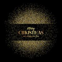Christmas and New Year background with gold glitter vector