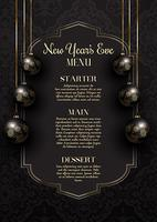 Luxurious elegant New Year's Eve menu design vector
