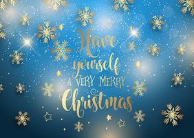 Jul bakgrund med dekorativa typ