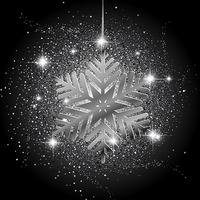 Christmas snowflake glitter background  vector