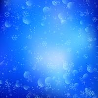 Christmas background of snowflakes and bokeh lights vector