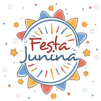 Vecteur de Festa Junina dessiné à la main