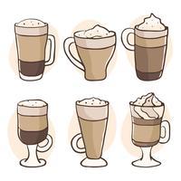 Café glacé sur le vecteur blanc
