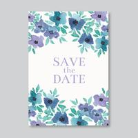 Watercolor Elegant Wedding Card