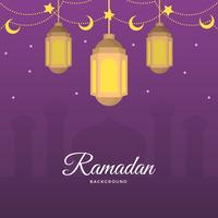 Flat Ramadan Vector Background