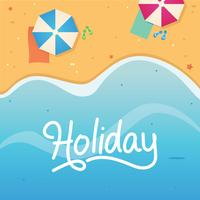 Beach Holiday Vacation Illustration